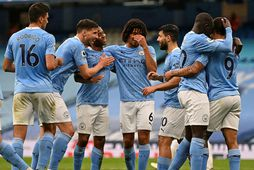 Manchester City er með öruggt forskot á toppi ensku úrvalsdeildarinnar.