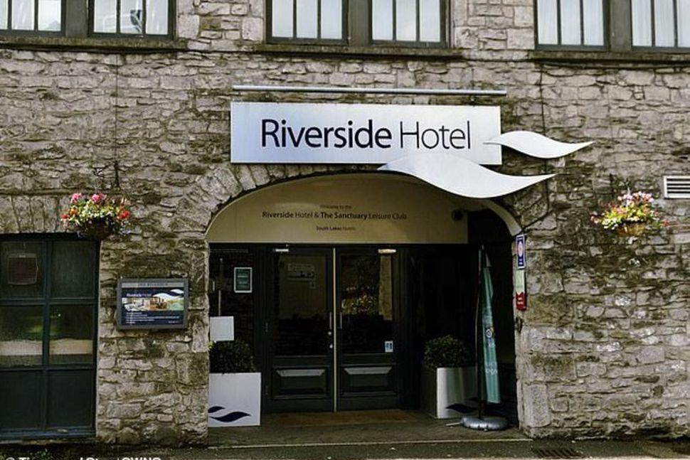 Það var á þessu hóteli, Riverside, sem atvikið átti sér ...