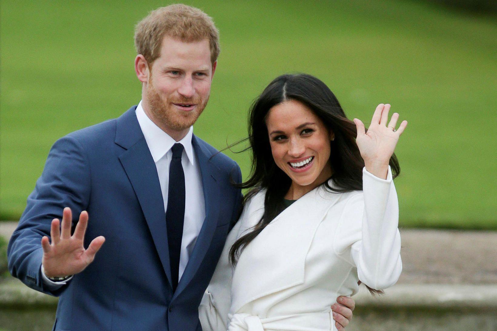 Harry og eiginkona hans Meghan Markle.