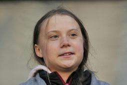 Greta Thunberg tók þátt í göngu Sustainabiliteens í Vancouver í vikunni.