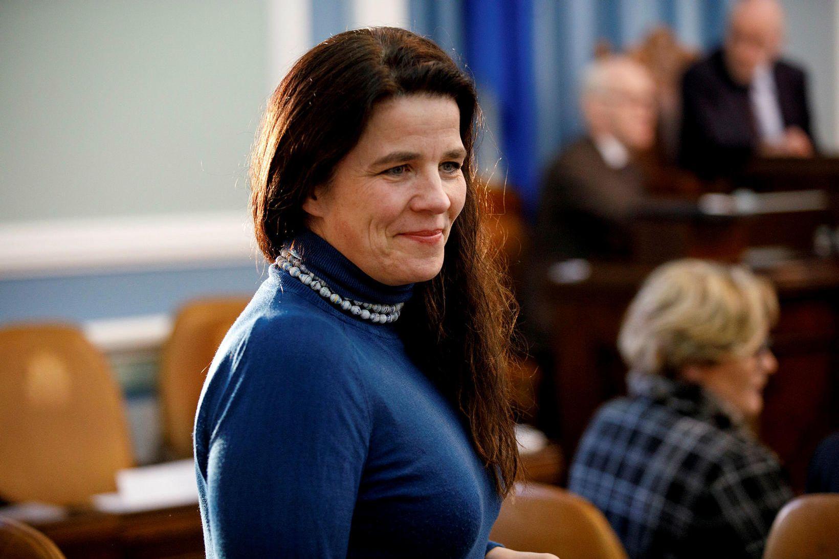 Helga Vala Helgadóttir var meðal gesta í Silfrinu í dag.
