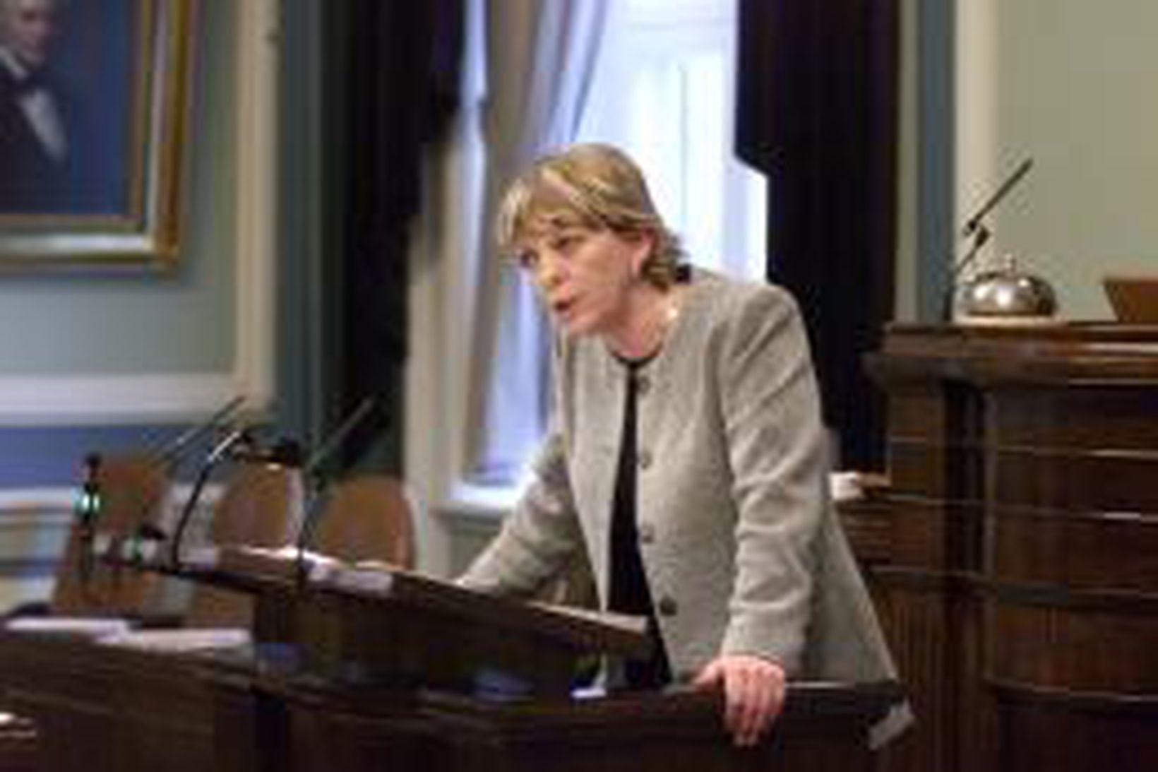 Margrét Frímannsdóttir á Alþingi.