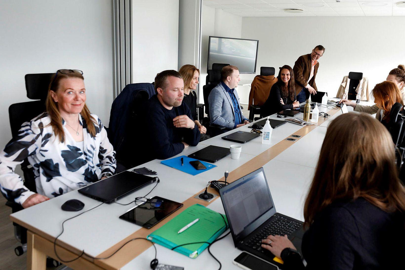 Samninganefndir Flugfreyjufélags Íslands og Icelandair hjá ríkissáttasemjara fyrr í sumar.
