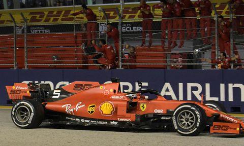 Vettel landaði þriðja sigri Ferrari í röð