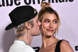 Justin Bieber og Hailey Bieber.