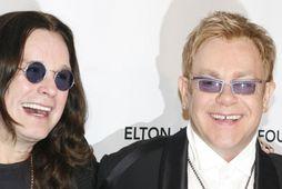 Ozzy Osbourne og Elton John.