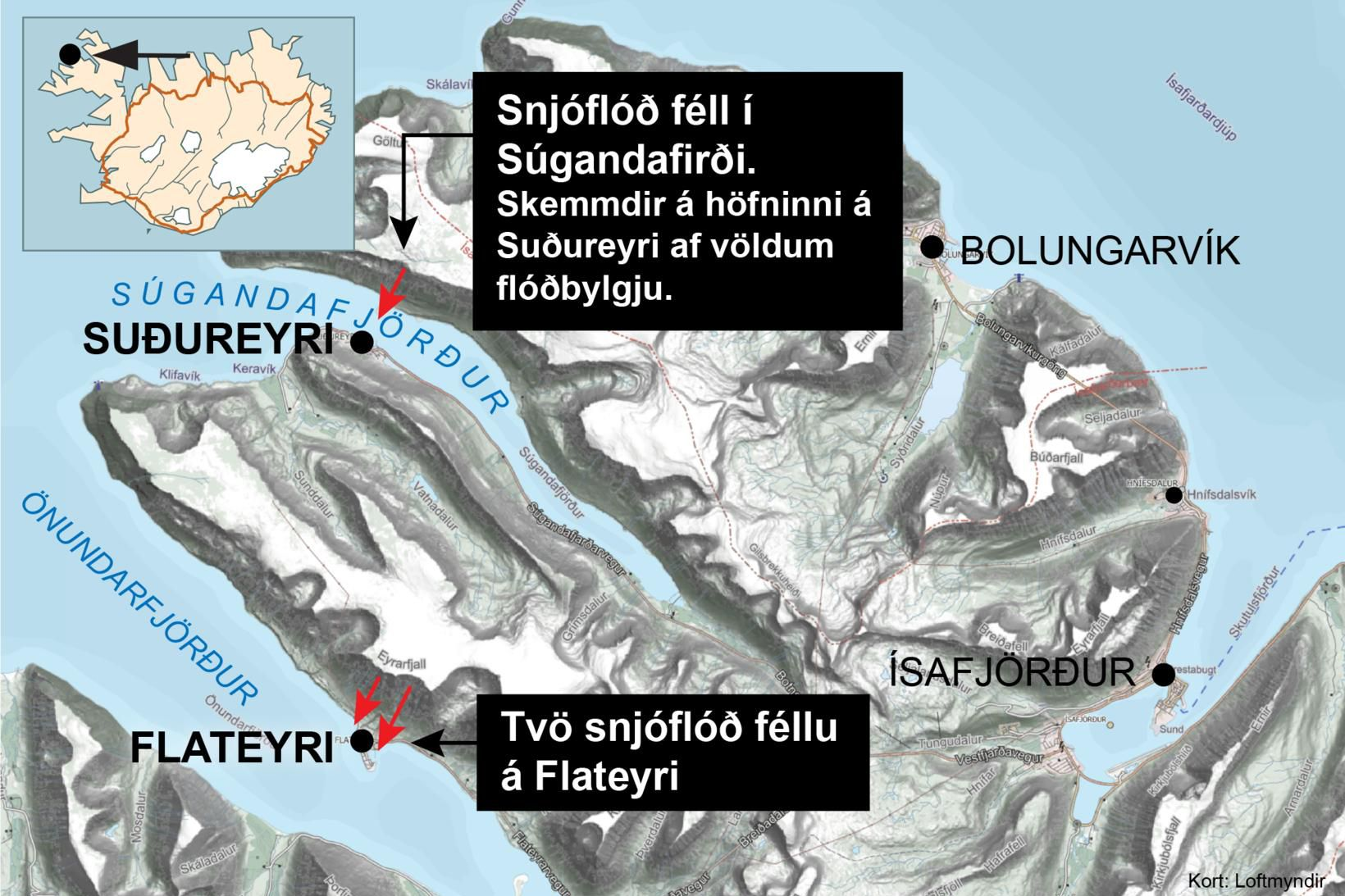 Þór var rétt ókominn á Bolungarvík þegar mbl.is heyrði í …