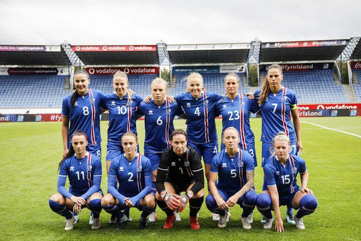 Byrjunarlið Íslands í dag.