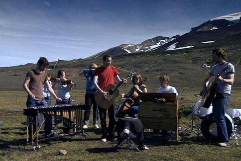 "Catch the famous ""Heima"" documentary on   a tour that Sigur Rós made of Iceland in 2006."