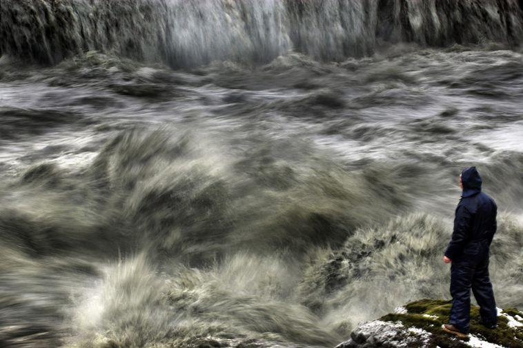Frá Skaftárhlaupi 2006. Rennslið náði mest 636 rúmmetrum á sekúndu í Eldvatni við Ása. Þannig ...