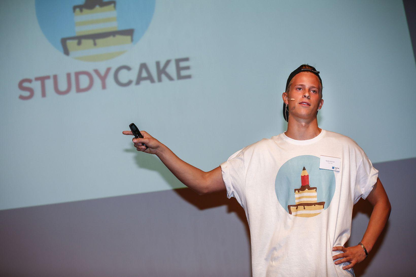Kjartan Þórisson, framkvæmdarstjóri Study Cake, kynnti fyrirtækið á Fjárfestadegi Startup …