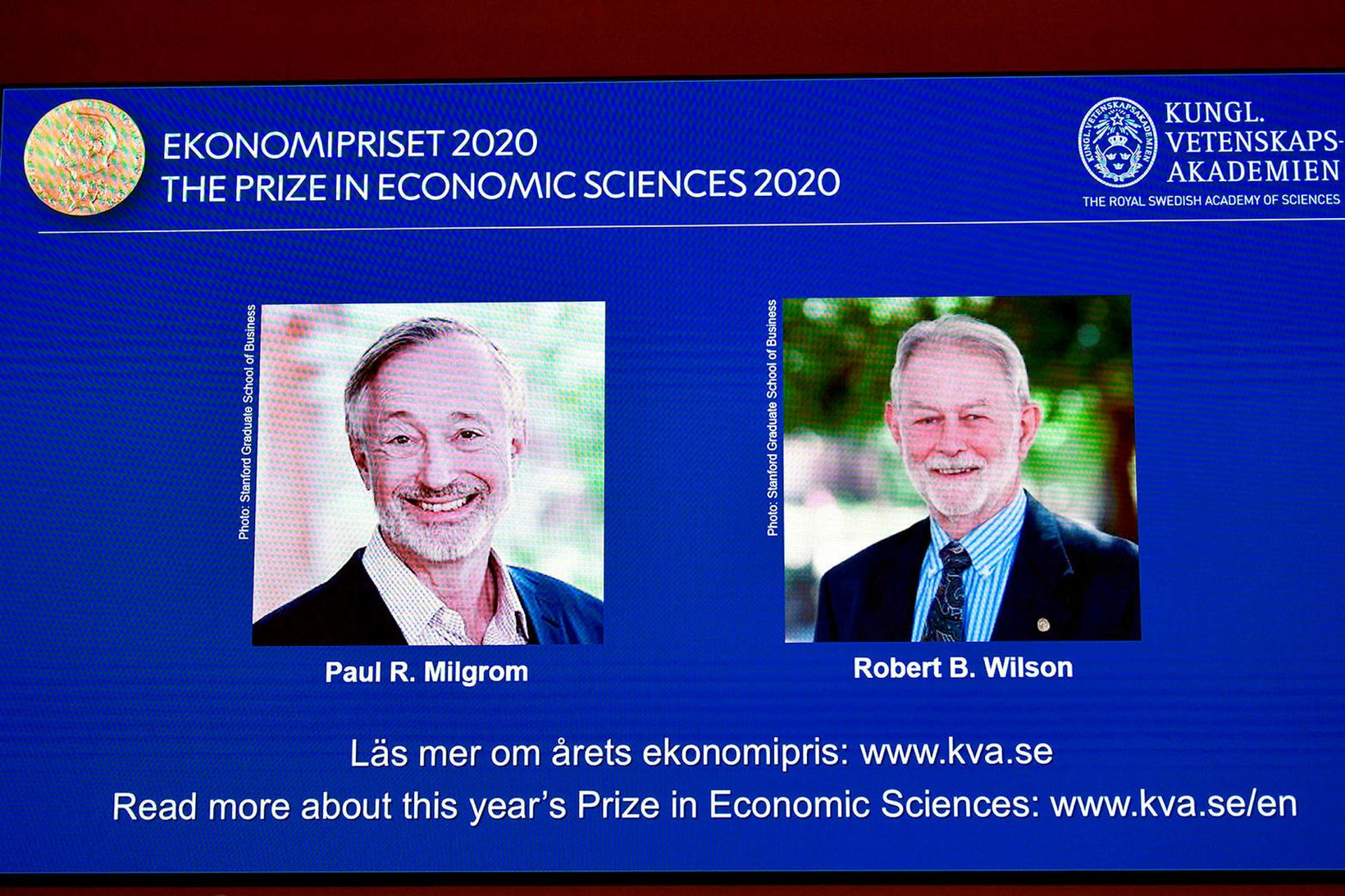 Paul Milgrom og Robert Wilson.