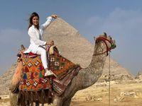 Danica Patrick nýtur lífsins í Egyptalandi.
