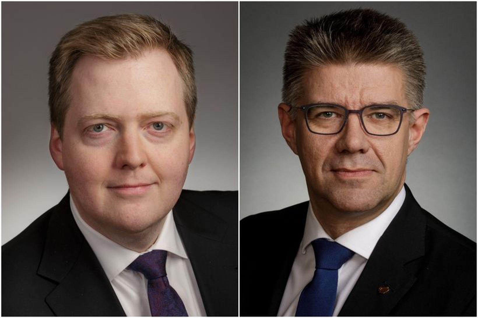 Sigmundur Davíð Gunnlaugsson og Gunnar Bragi Sveinsson.