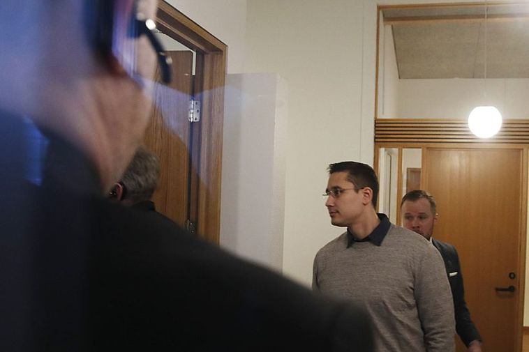 Thomas Møller Olsen this morning at court.
