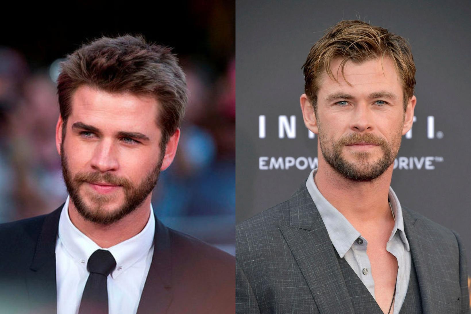 Liam og Chris Hemsworth búa við Byron-flóa í Ástralíu.