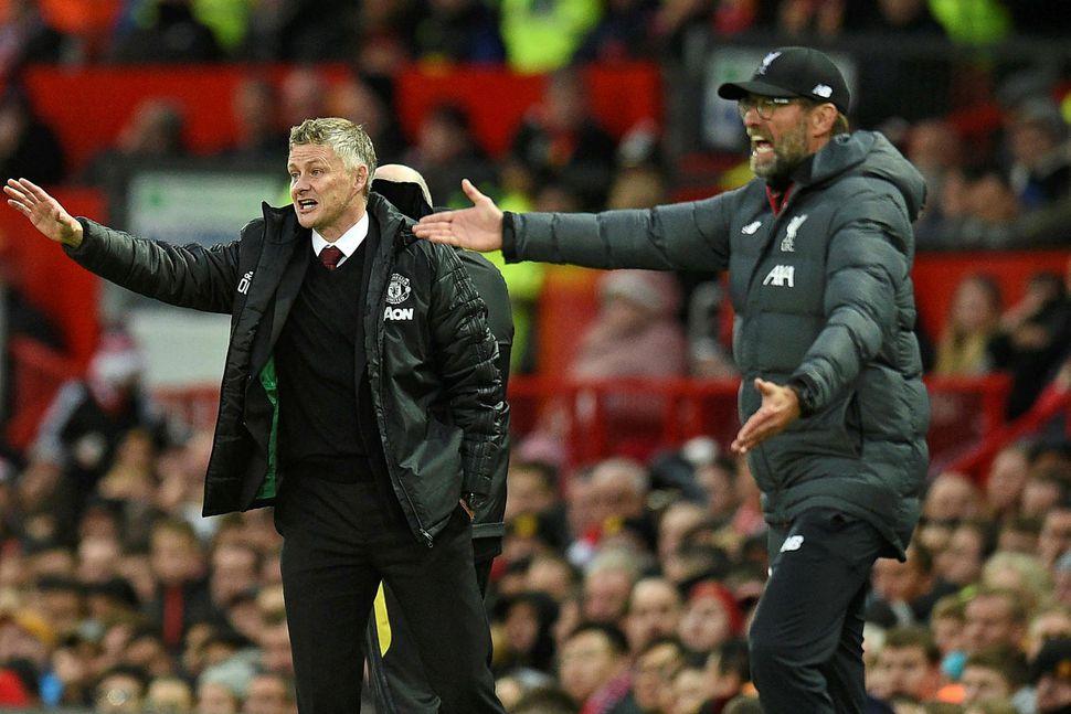 Jürgen Klopp var pirraður eftir leik Manchester United og Liverpool ...