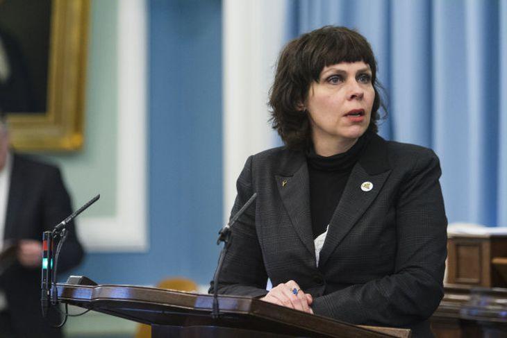 Birgitta Jónsdóttir, frambjóðandi Pírata.
