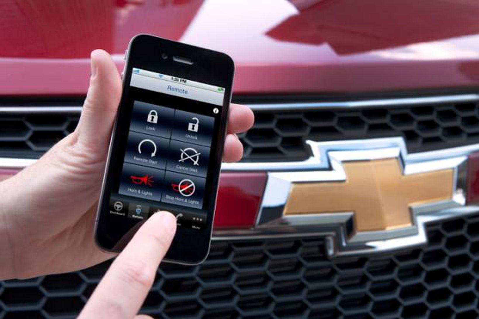 Nýtt app fyrir Chevrolet bíla virkar betur en fjarstýring