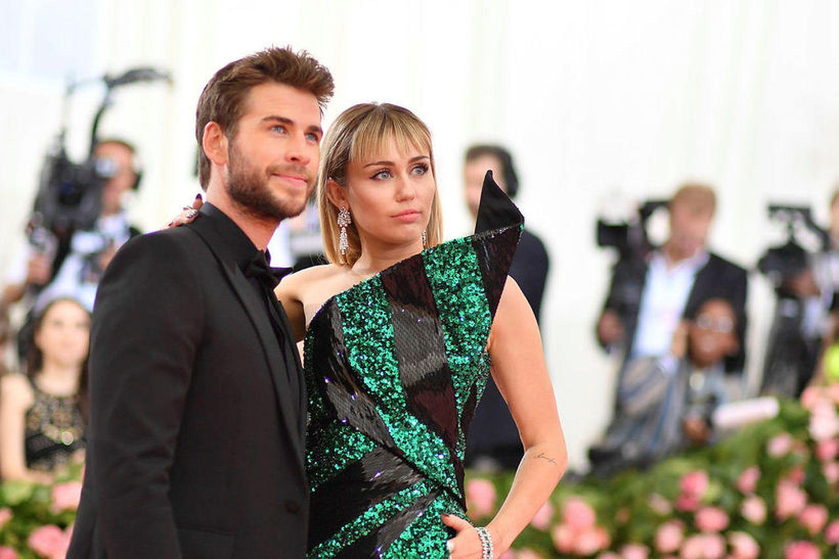 Miley Cyrus og Liam Hemsworth voru gift í sjö mánuði.