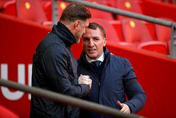 Ralph Hasenhüttl hjá Southampton og Brendan Rodgers hjá Leicester eru í samtökum knattspyrnustjóra.
