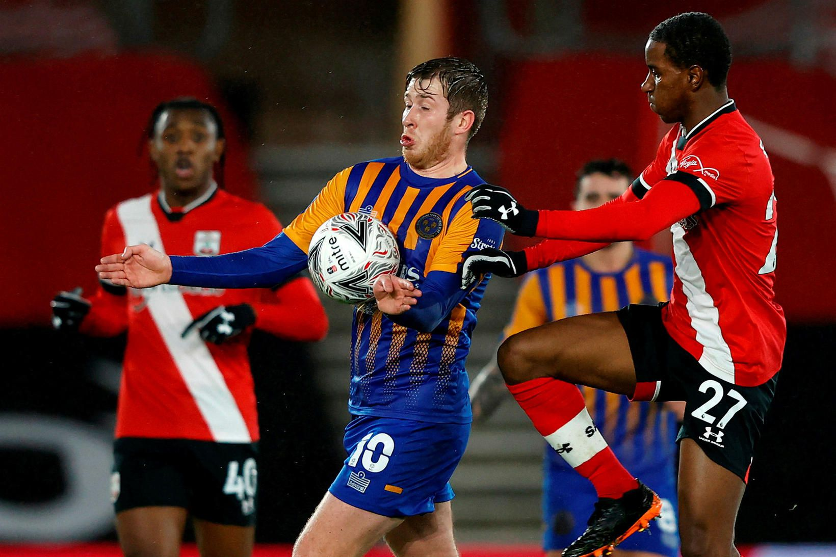 Southampton hafði betur gegn Shrewsbury.