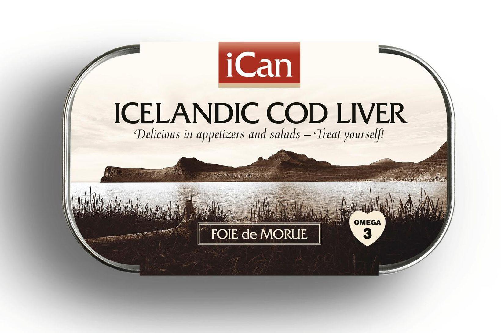 Ægir sjávarfang framleiðir meðal annars niðursoðna þorsklifur undir merkjum iCan.