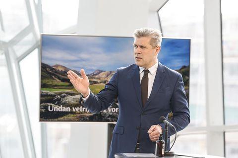 Bjarni Benediktsson fjármálaráðherra og formaður Sjáldstæðisflokksins.