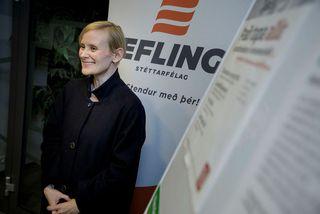 Sólveig Anna Jónsdóttir tekur formlega við embætti á aðalfundi Eflingar í lok apríl.