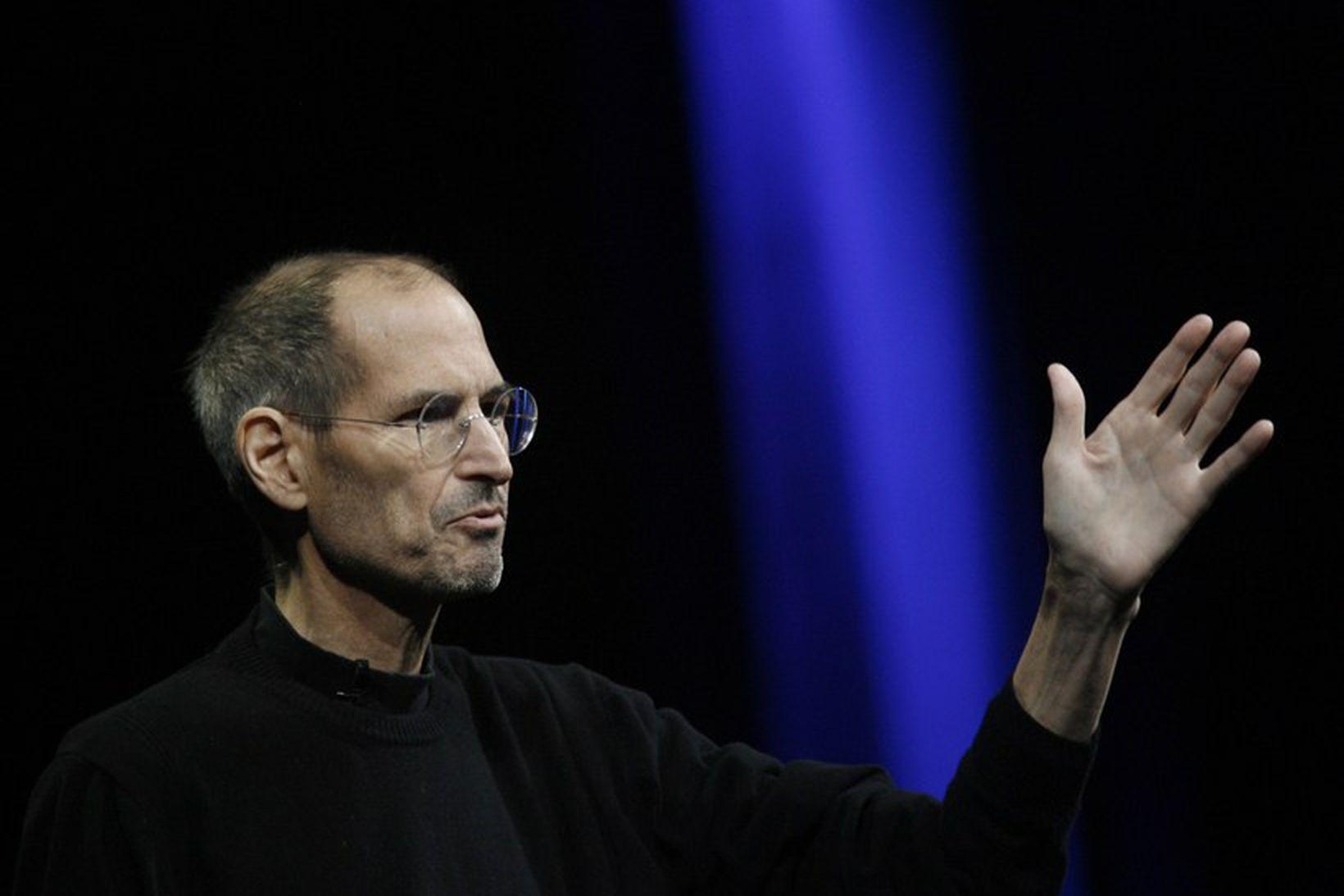 Steve Jobs lést árið 2011 eftir baráttu við krabbamein.
