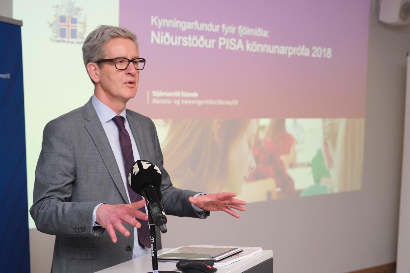 Arnór Guðmundsson, forstjóri Menntamálastofnunar, segir að aðeins sex lönd innan …