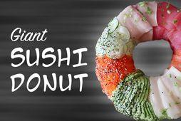 Sushi-kleinuhringurinn er engin smásmíði og vegur hvorki meira en minna en 7,2 kíló og í …