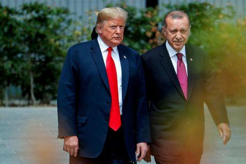 Donald Trump Bandaríkjaforseti og Erdogan Tyrklandsforseti.