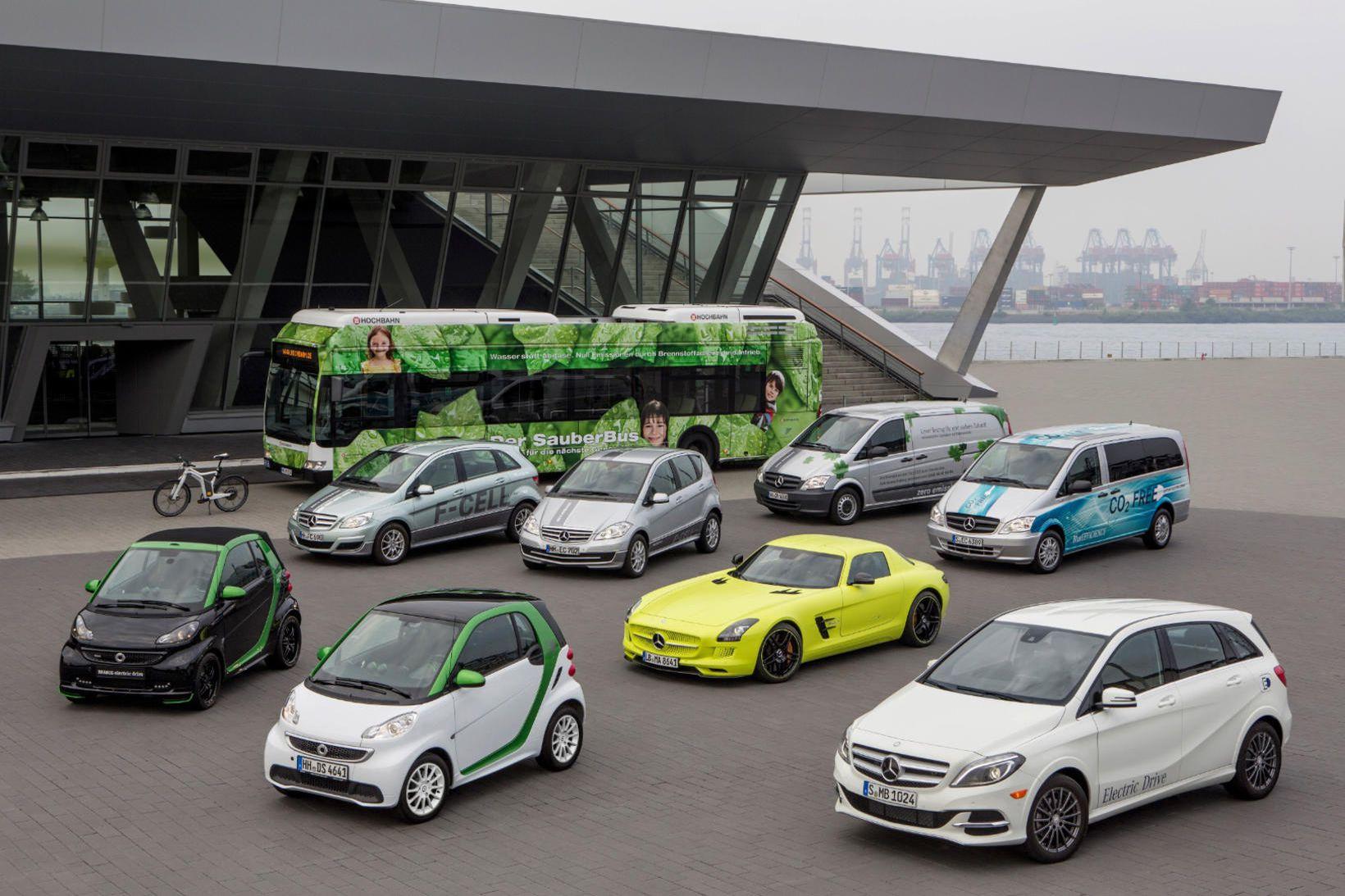 Daimler er stærst á hinum tiltölulega smáa rafbílamarkaði Þýskalands.