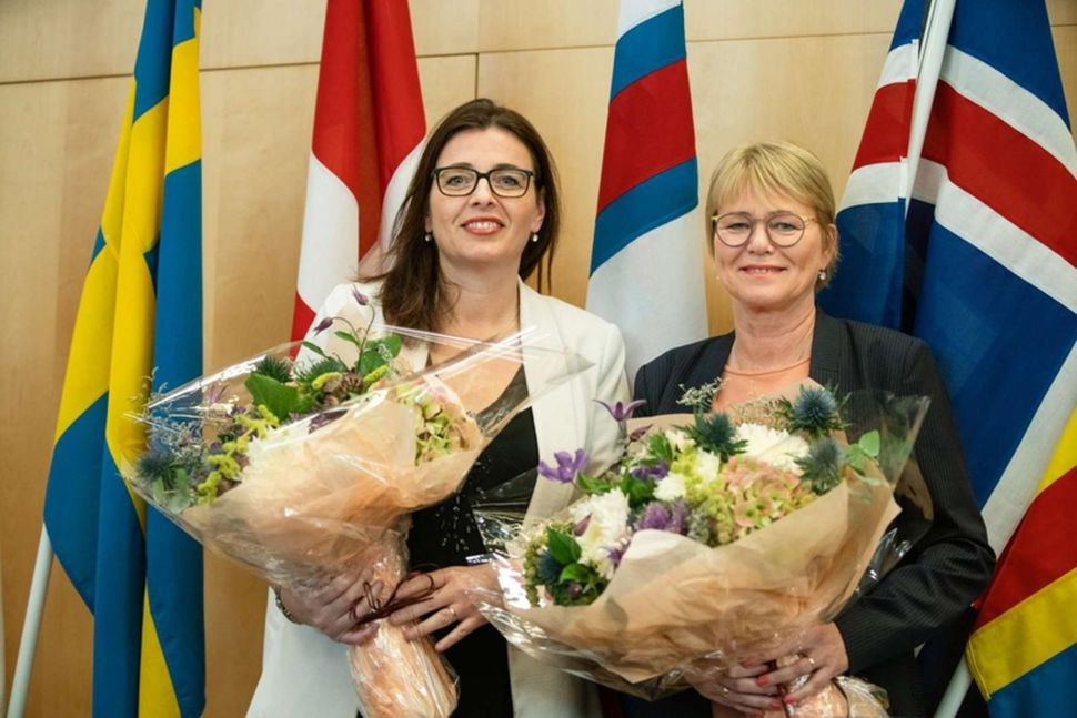 Forseti og varaforseti Norðurlandaráðs, Silja Dögg Gunnarsdóttir og Oddný Harðardóttir.