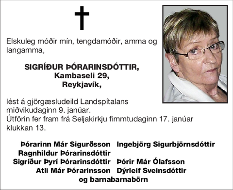 Sigríður Þórarinsdóttir,