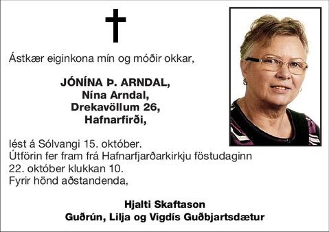 Jónína Þ. Arndal,