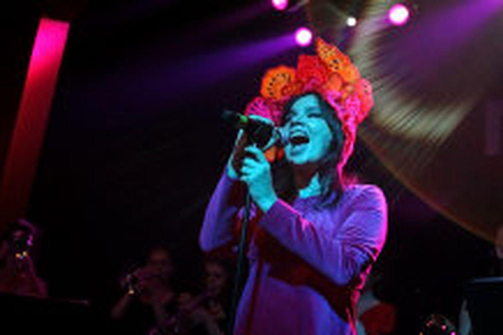 Björk Guðmundsdóttir var á meðal þeirra sem komu fram á …