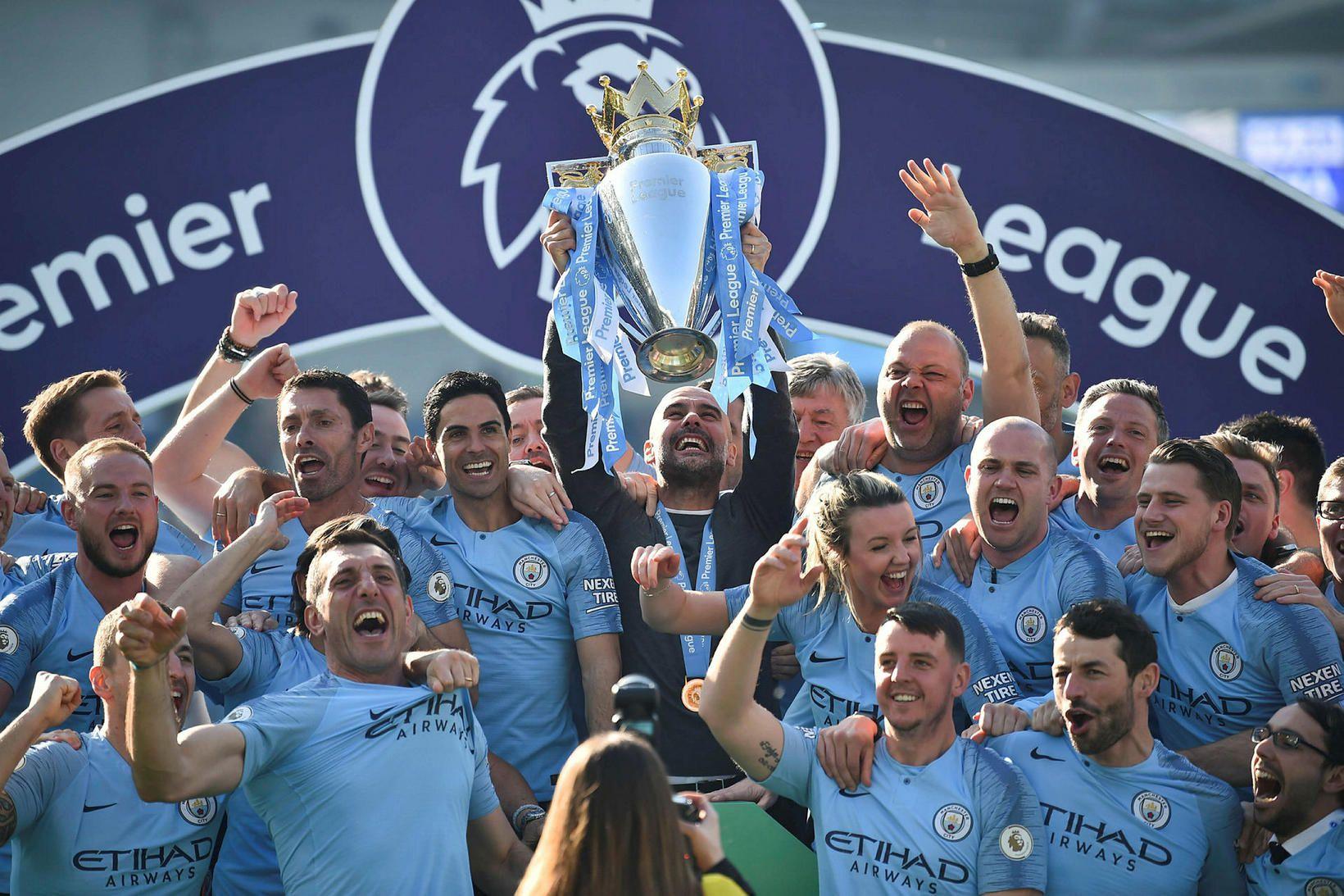 Manchester City varð Englandsmeistari í fyrra.