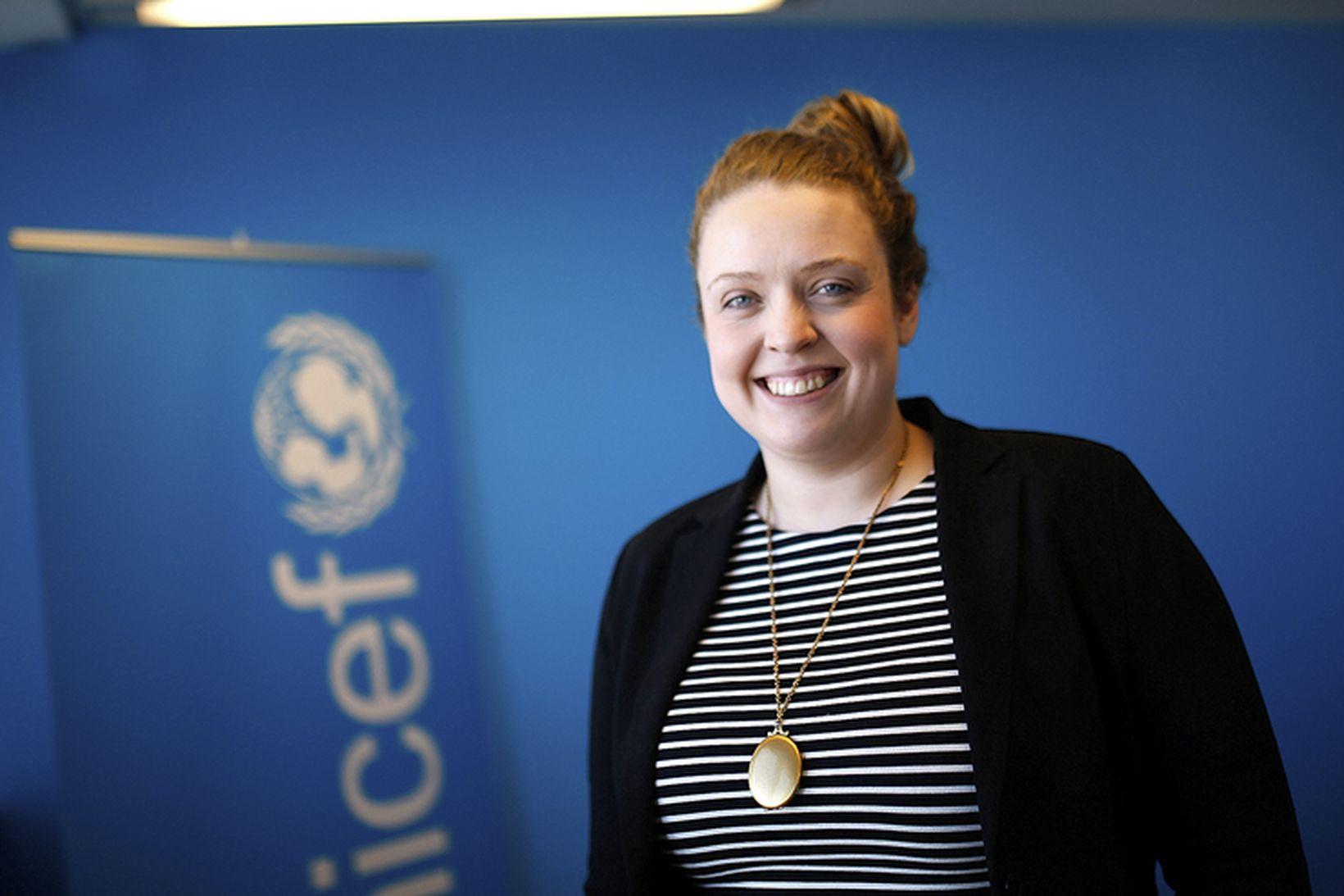 Hjördís Eva Þórðardóttir réttindafræðslufulltrúi UNICEFá Íslandi