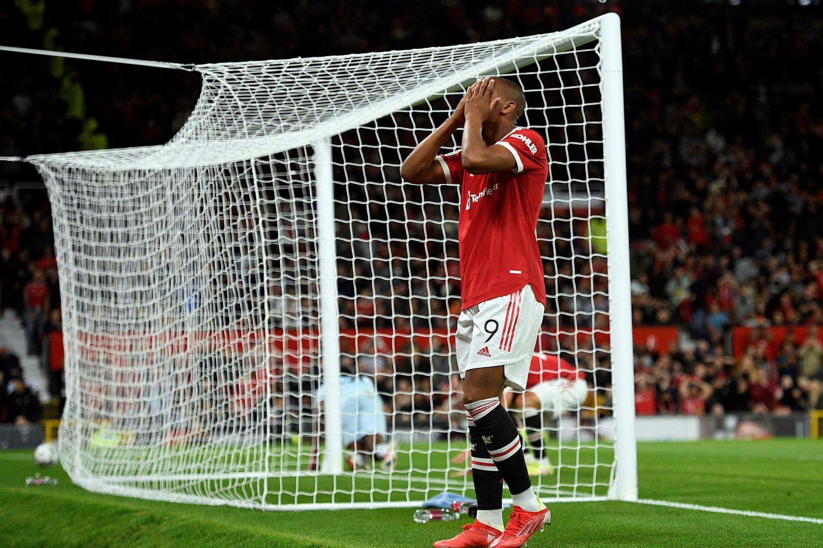 Anthony Martial átti ekki sinn besta leik gegn West Ham …