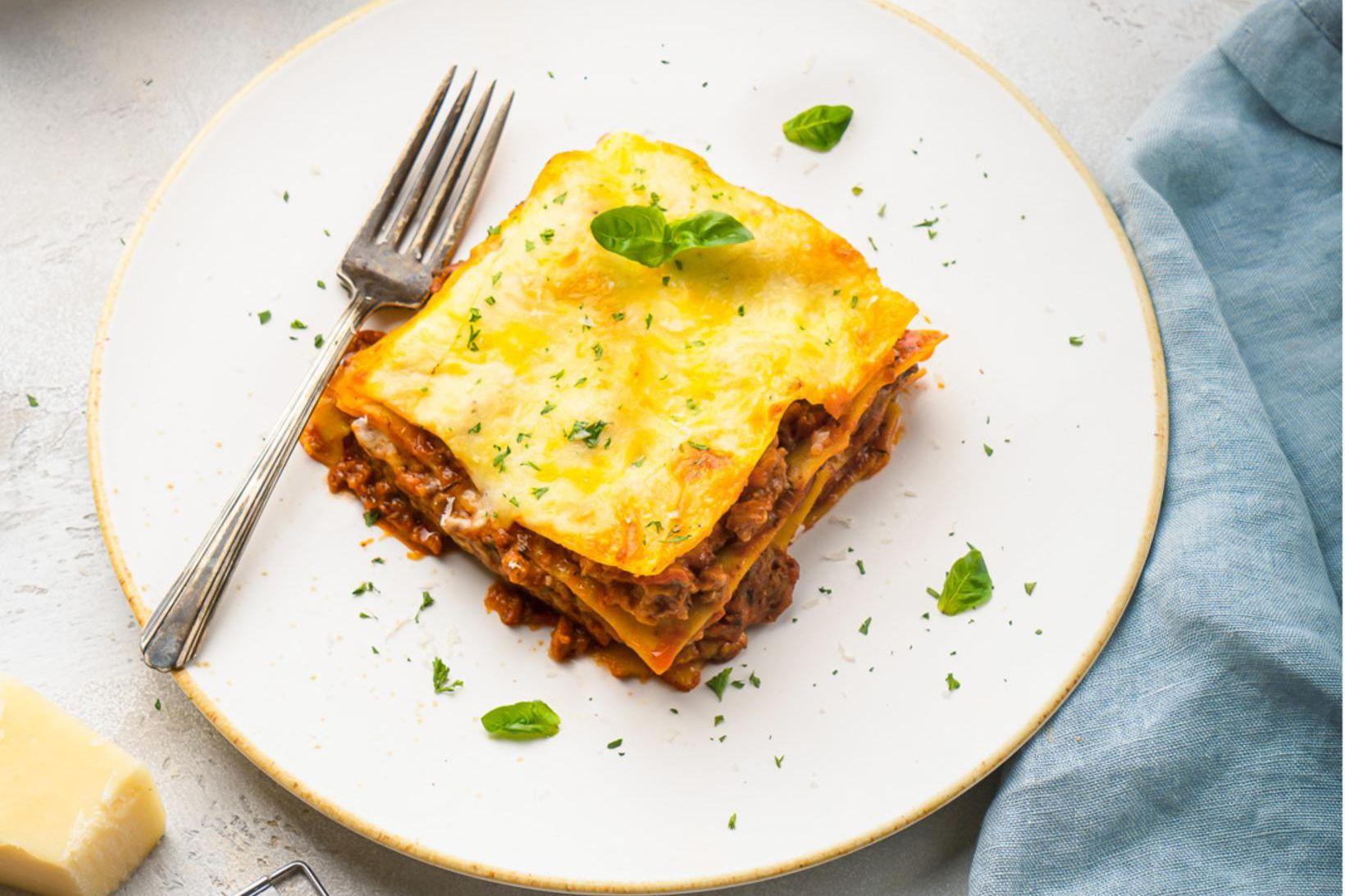 Lúxus útgáfa af lasagne með glæpsamlega miklum parmesan osti í …