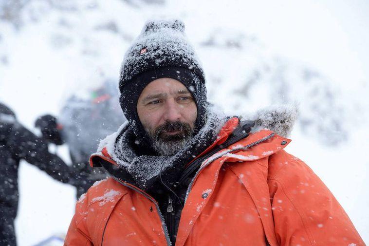 Baltasar Kormákur in outdoor gear during the filming of Everest.
