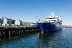 Ocean Diamond, eitt þeirra leiðangursskipa sem leggjast að Miðbakka þar sem farþegaskipti fara fram. Öllum …