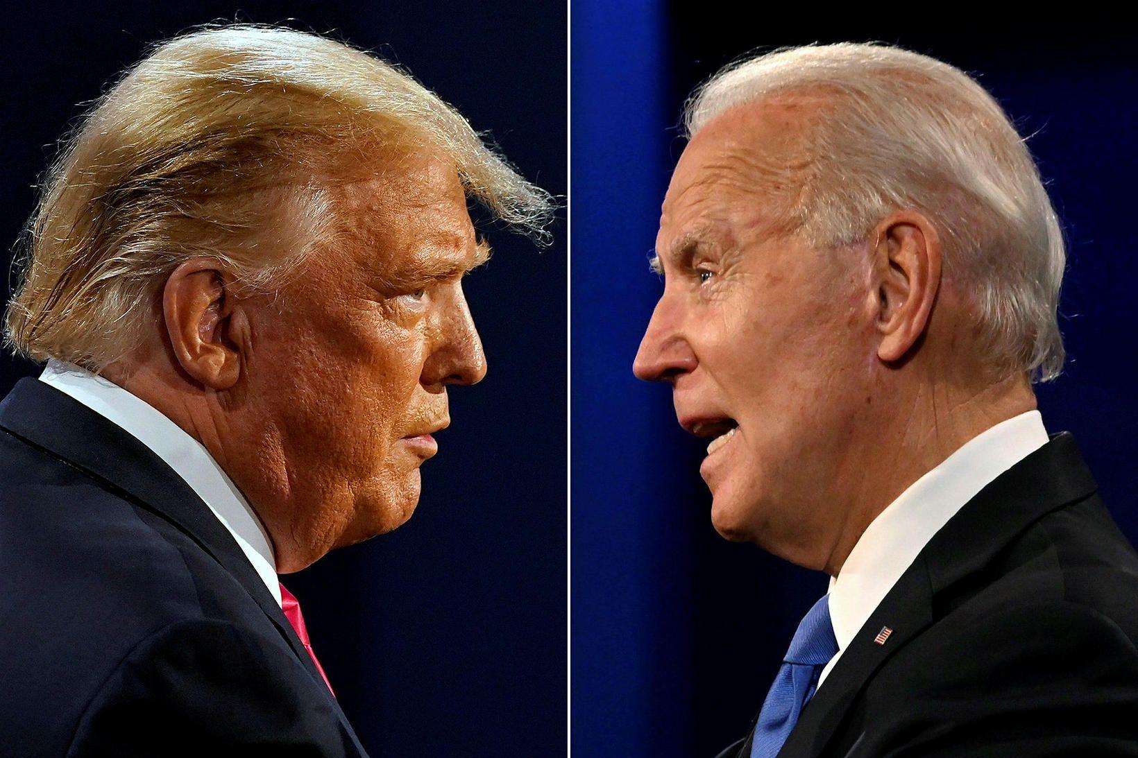 Donald Trump forseti og Joe Biden verðandi forseti.