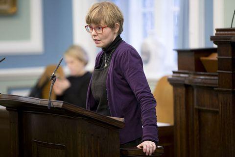 Steinunn Þóra Árnadóttir,MP for the Left Green Alliance.
