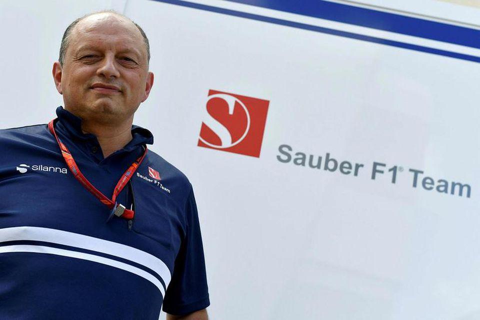 Frederic Vasseur liðsstjóri Sauber stjórnaði Renault áður.