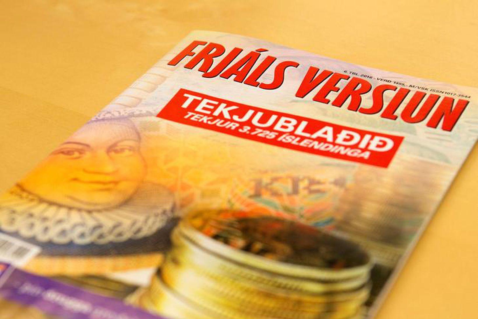 Tekjublað Frjálsrar verslunar frá árinu 2016.