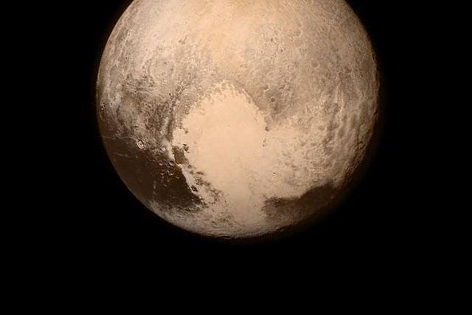 Mynd New Horizons af Plútó áður en framhjáflugið hófst. Hún ...