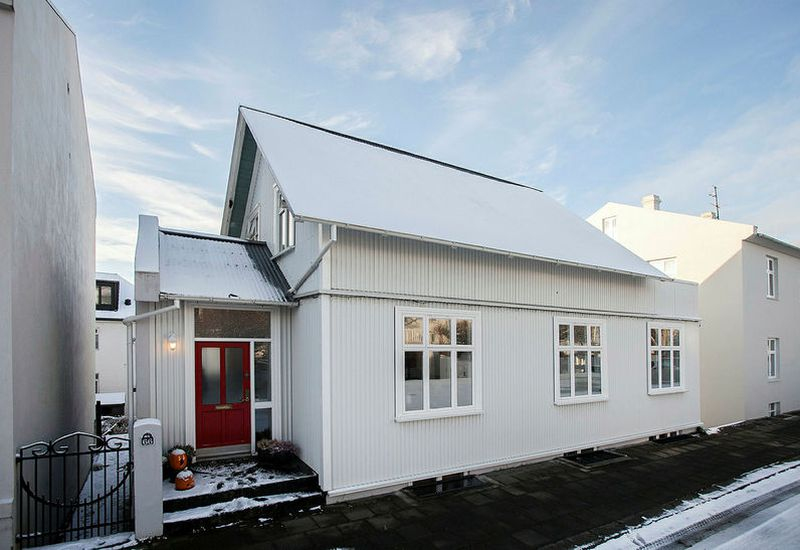 The building is in a typical Icelandic style.